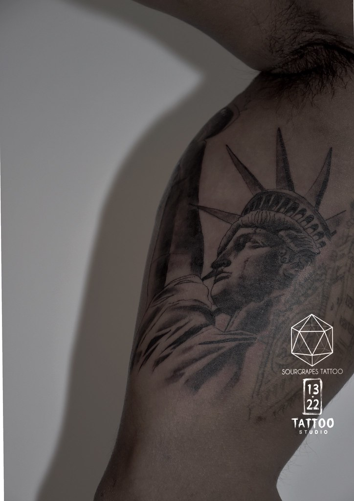 Statue Of Liberty Tattoo In Progress Sourgrapes Tattoo 13 Flickr