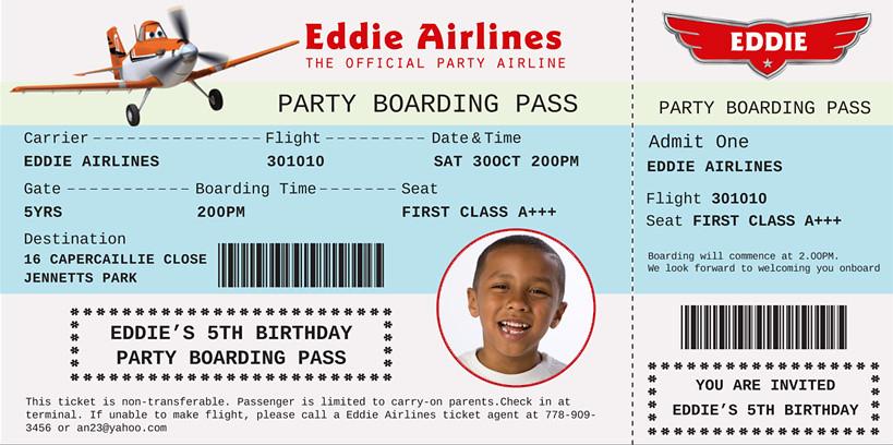 Disney planes dusty crophopper boarding pass custom birth flickr disney planes dusty crophopper boarding pass custom birthday invite by designdreametsy filmwisefo