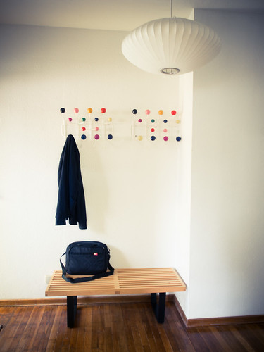 eames hang it all nelson bench nelson saucer lamp pendan flickr. Black Bedroom Furniture Sets. Home Design Ideas