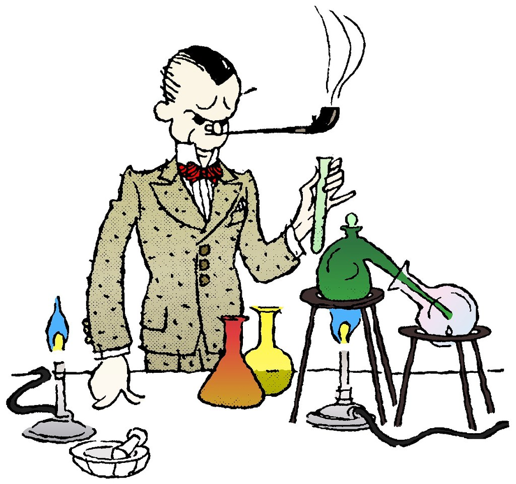 bad lab safety another public domain clip art i colorized flickr