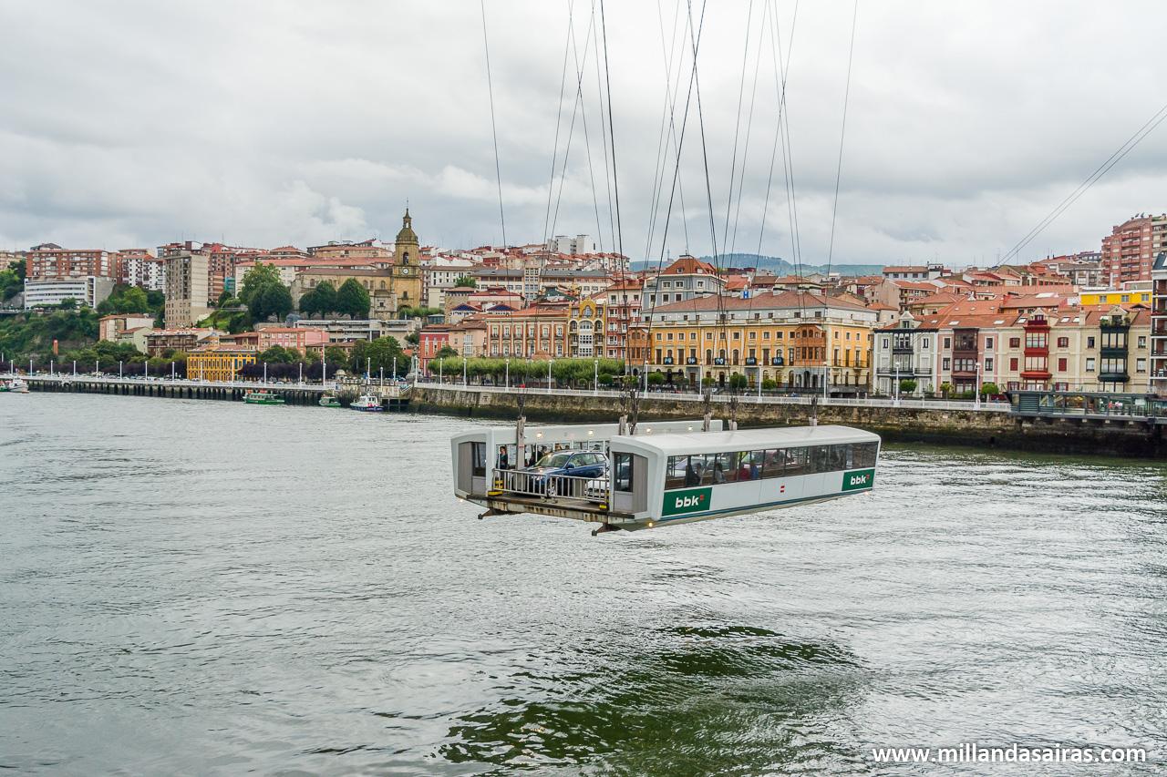 Transbordador sobre el río Nervión