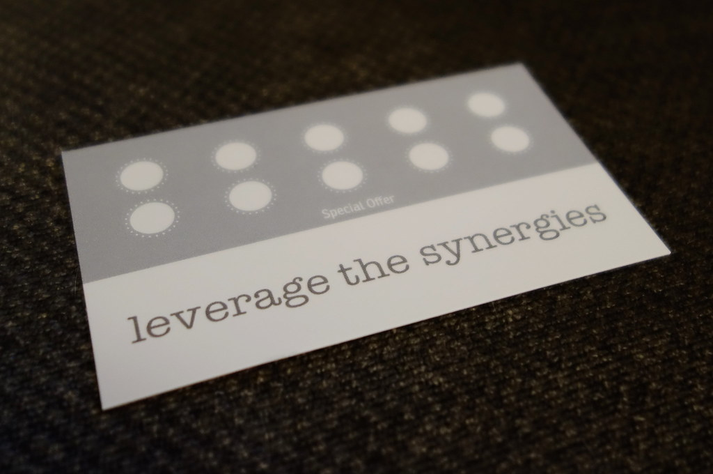 leverage the synergies loyalty card | limited edition limite… | Flickr