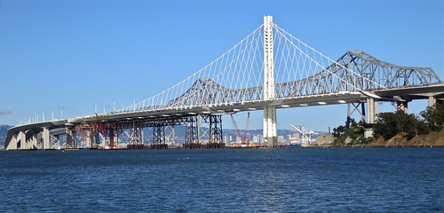 New and Old Bay Bridge | by jurvetson
