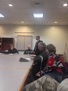Rep Cabral speaking to the residents of the Clark's Cove Neighborhood Association | by Representative Antonio F.D.Cabral