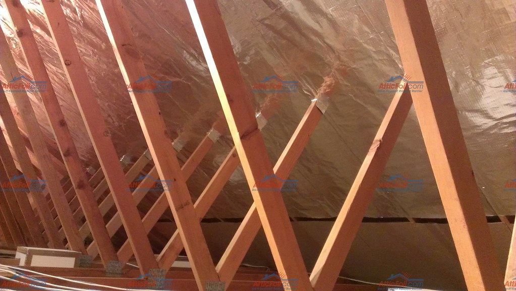 ... 26  Wide Radiant Barrier AtticFoil Installed | by AtticFoil.com & 26