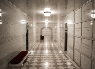 underground hall 02 - mausoleum - Mayfield Cemetery | by Tim Evanson