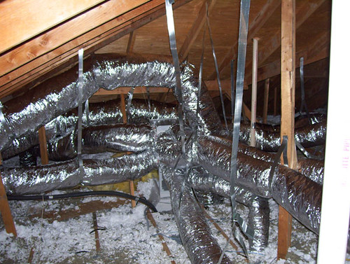 Air Conditioning Duct Work In An Attic In Fairview Tx