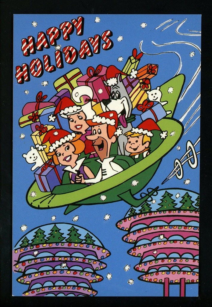 The Jetsons Postcard Happy Holidays | Space Mutt | Flickr