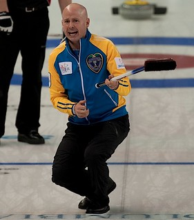 Kamloops B.C.Mar5_2014.Tim Hortons Brier.Alberta skip Kevin Koe.CCA/michael burns photo | by seasonofchampions