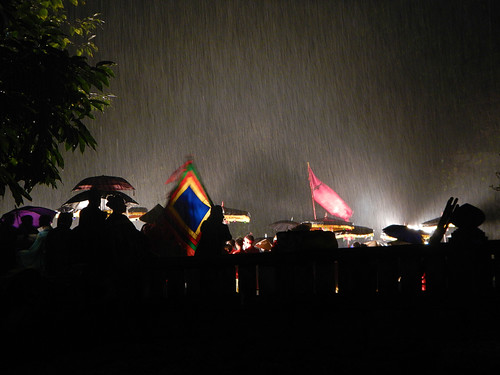 the show must go on, even on rainy night in Hanoi.