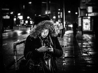 Woman with Mobile Phone; Night | by kohlmann.sascha