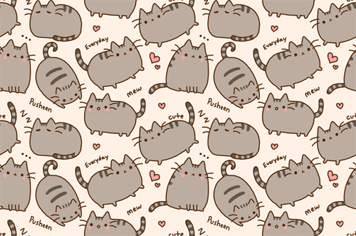Lovely Pusheen Wallpaper 1 | By ChloeSJM Pusheen Wallpaper 1 | By ChloeSJM