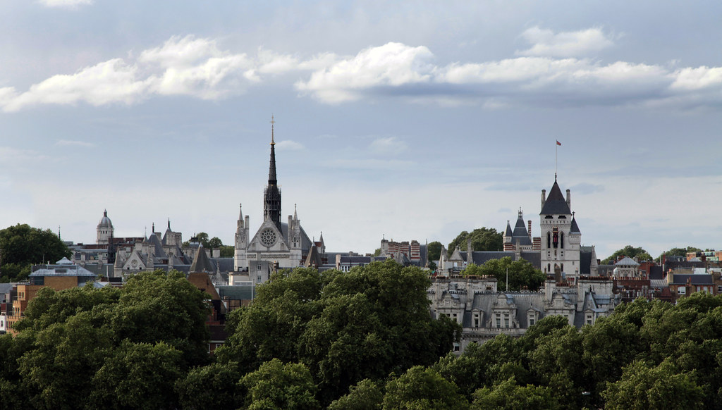 London Skyline And Royal Courts Of Justice