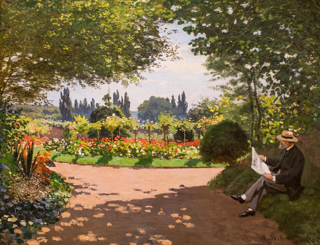 Adolphe Monet Reading in a Garden | Thomas Hawk | Flickr
