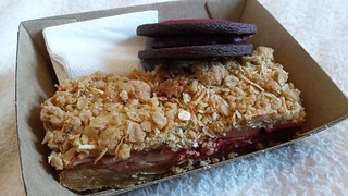 Rasberry Crumble Slice and Strawberry Hibiscus Curd Cookie from Smith & Deli