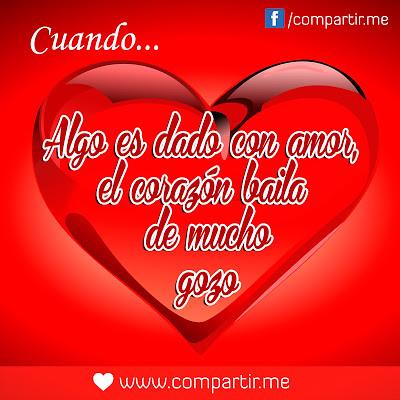 Frases De Amor Imagen De Corazon Grande Con Frase De Amor Flickr