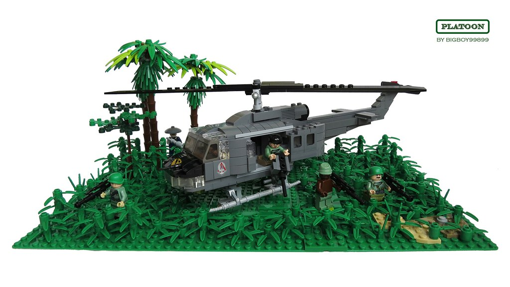 Lego Platoon (with Huey helicopter)   Lego Platoon with Bell…   Flickr