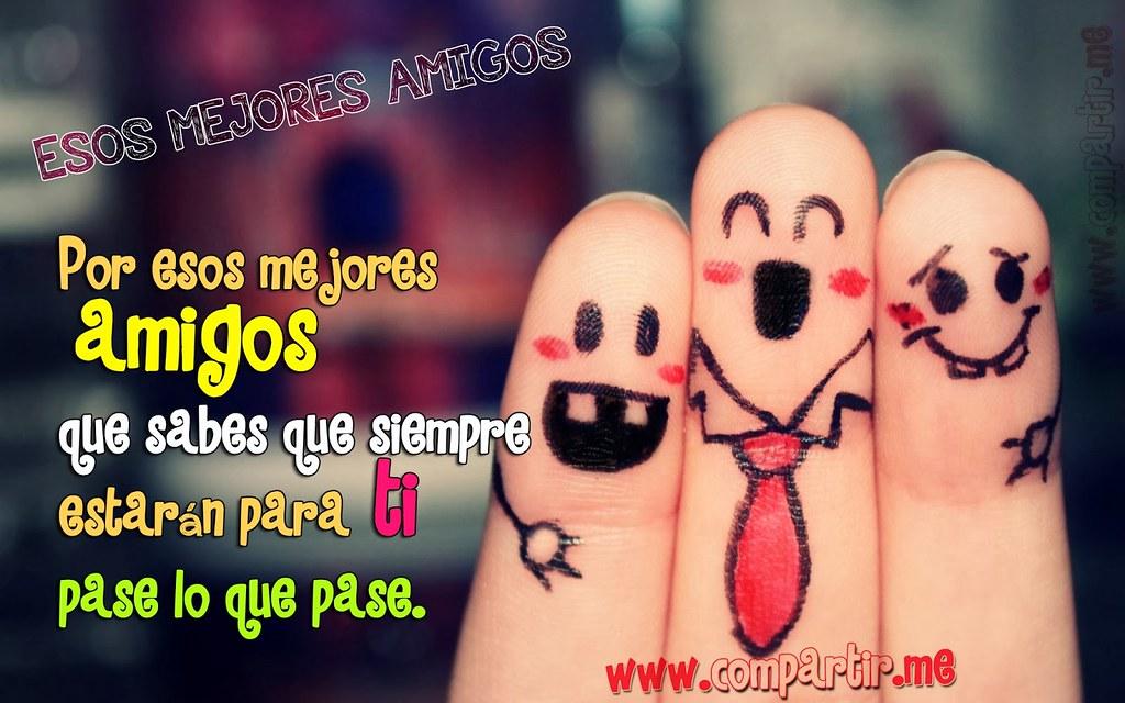 Frases De Amor Imagen De Tres Dedos Con Los Rostros De Am Flickr