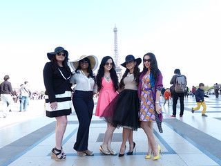Girls fashion photo shoot in Paris | by PreteMoiParis
