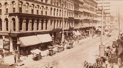 Clark Street, Chicago Ca 1880 Esta imagen está contenida en Flickr-5398