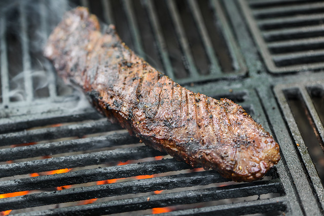 Hanger Steak with Harissa Butter