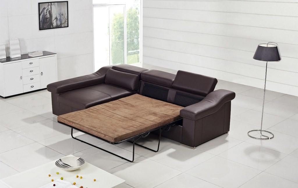 Modern Leather Sofa Bed furniture in Brown color VGYIT13 Flickr