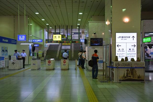 鳥取駅の改札