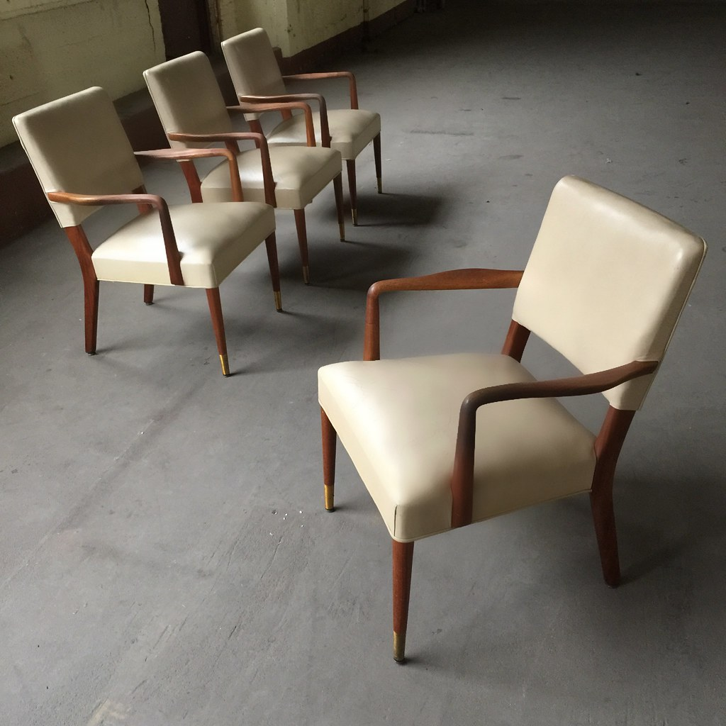 On deckstow davis midcentury modern arm chairs grand rapids mi 1960s