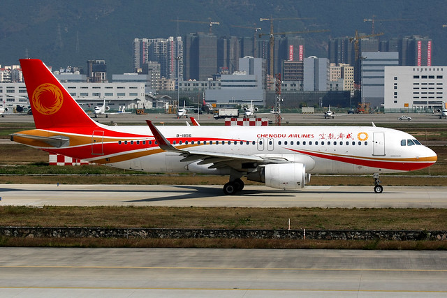 Chengdu Airlines | Airbus A320-200 | B-1856 | Shenzhen Baoan