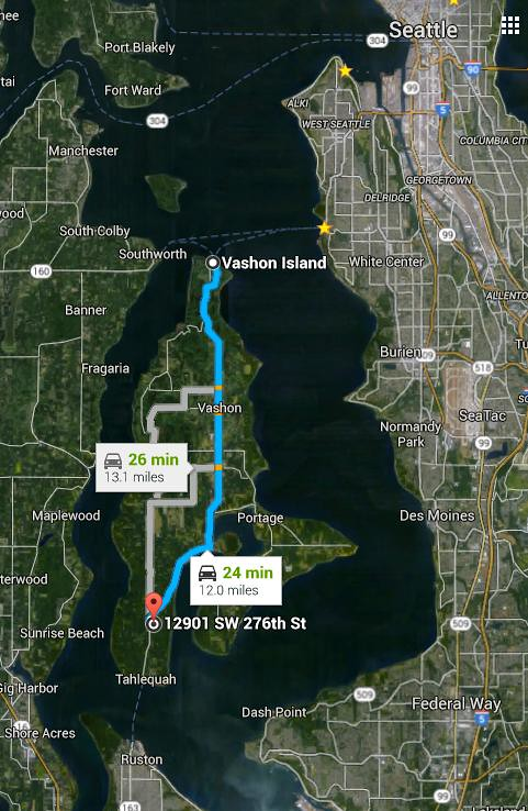 directions to Vashon