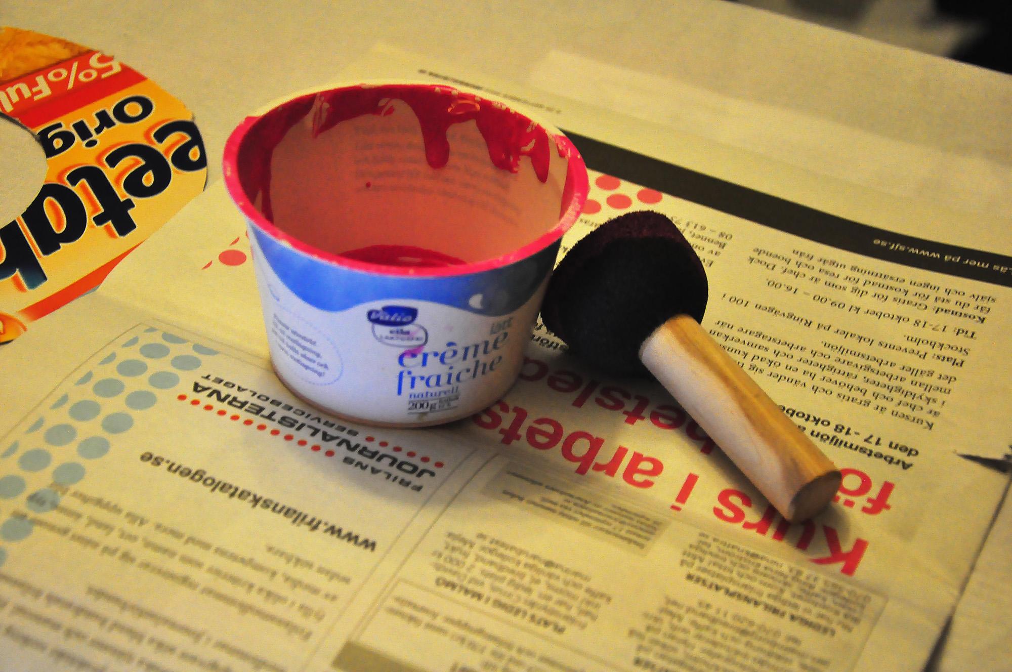 Printing on fabric using stencils