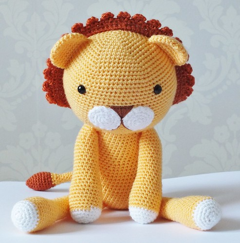 Beginner Knitting Patterns Stuffed Animals : Amigurumi Lion Alison Flickr