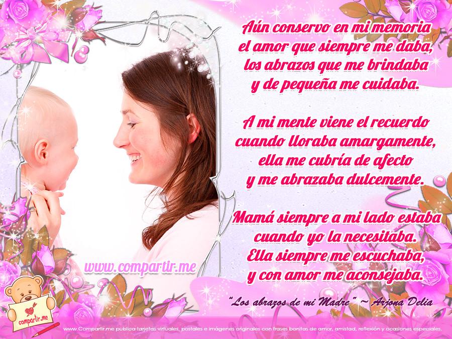 Frases De Amor Poema Los Abrazos De Mi Madre Ver Image Flickr
