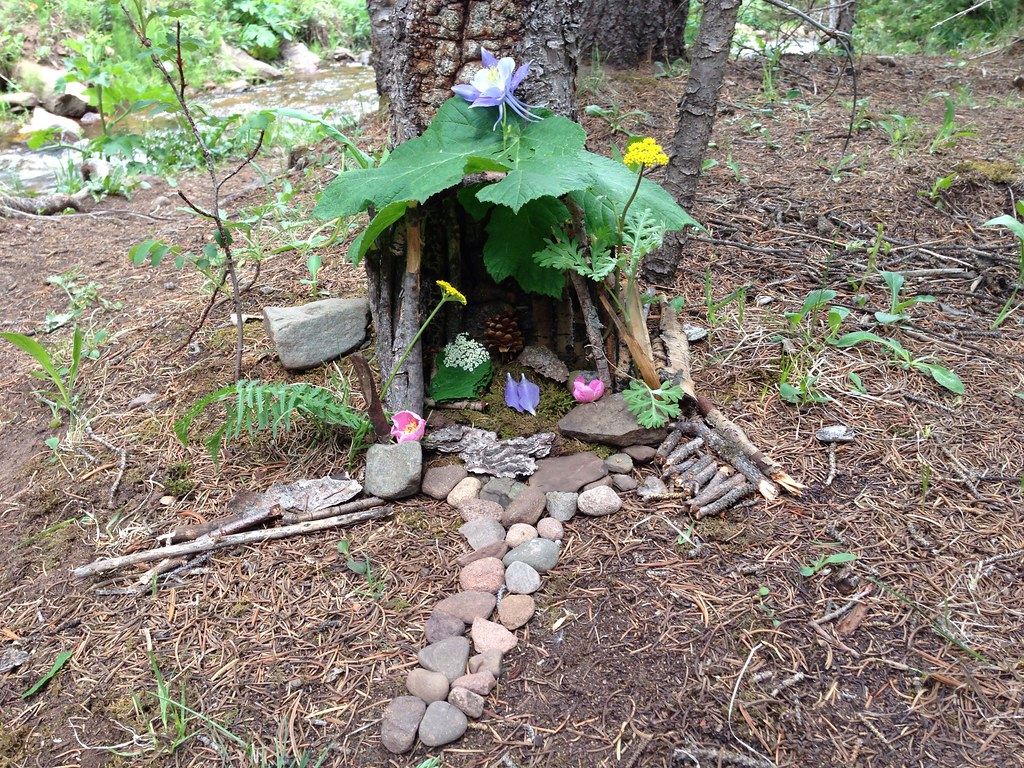 Awesome ... An Outdoor Fairy House Built By Rachel And Mom | By Wesley Fryer