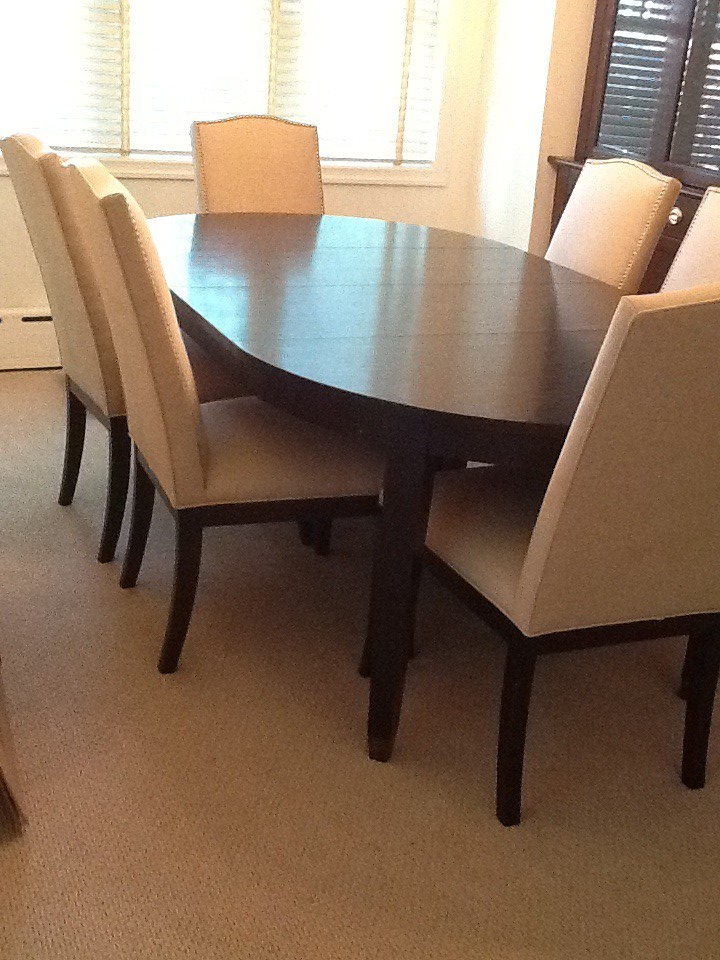 Crate and Barrel Baby Grand Dining table and Collette dini… | Flickr