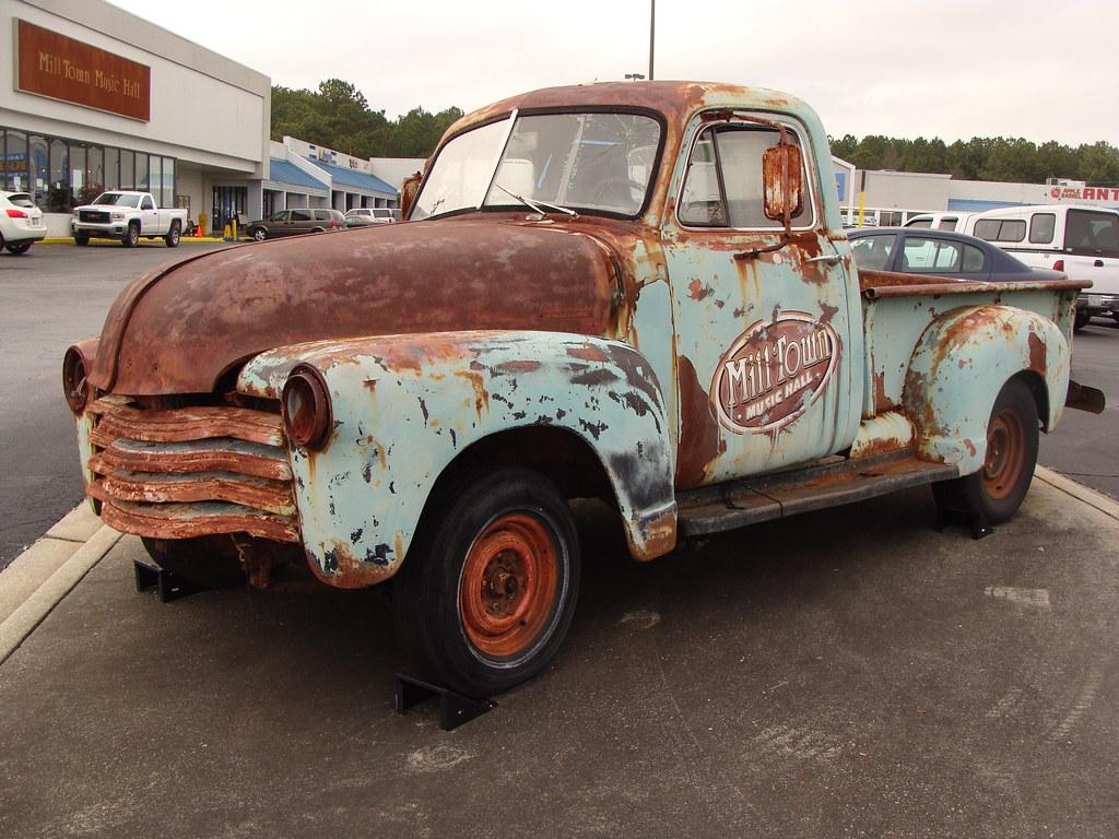 Rusty Old Pickup Truck---Bremen, Ga. | Shopping Center in Br… | Flickr