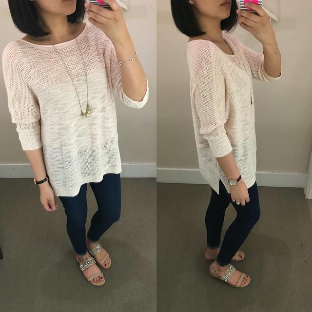 Lou & Grey Meshstitch Sweater, size XS regular