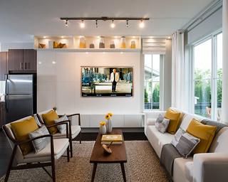 Modern Farmhouse Living Room Polyvor