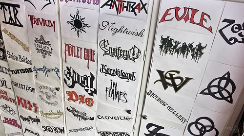 Wall of Band Logos | by Belinda Breed
