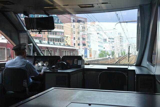 東海道本線、阪急電車との並送