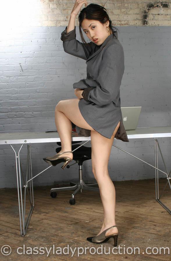 Legs Sexy asian secretary