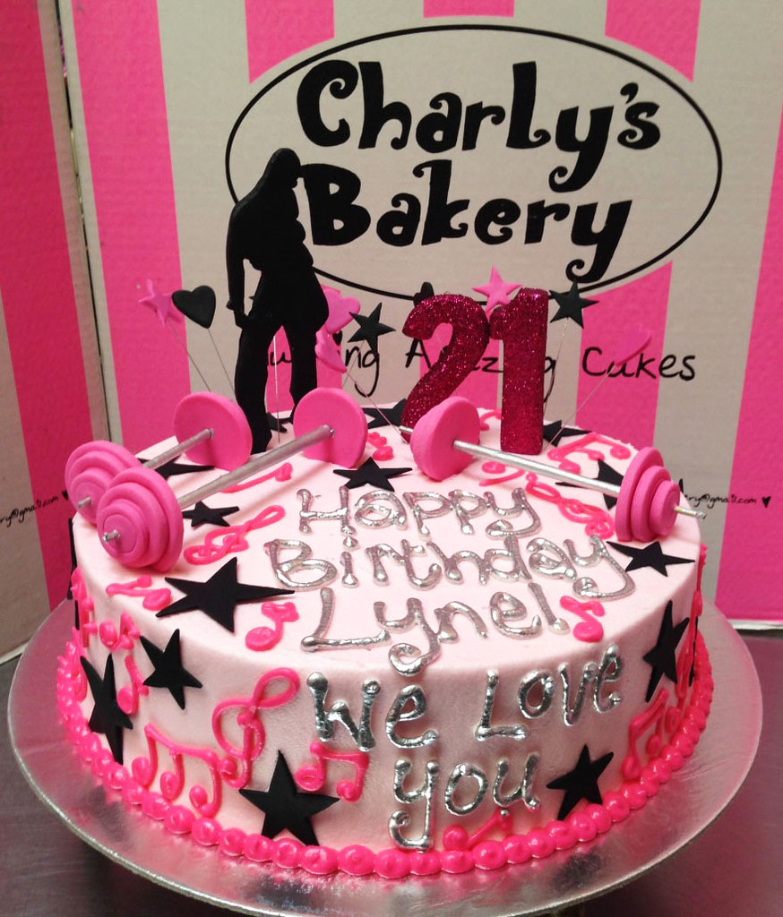 21st Birthday Cake With Piped Musical Notes Hip Hop Dance Flickr