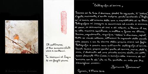 Calligrafie d'Anima (dedica)