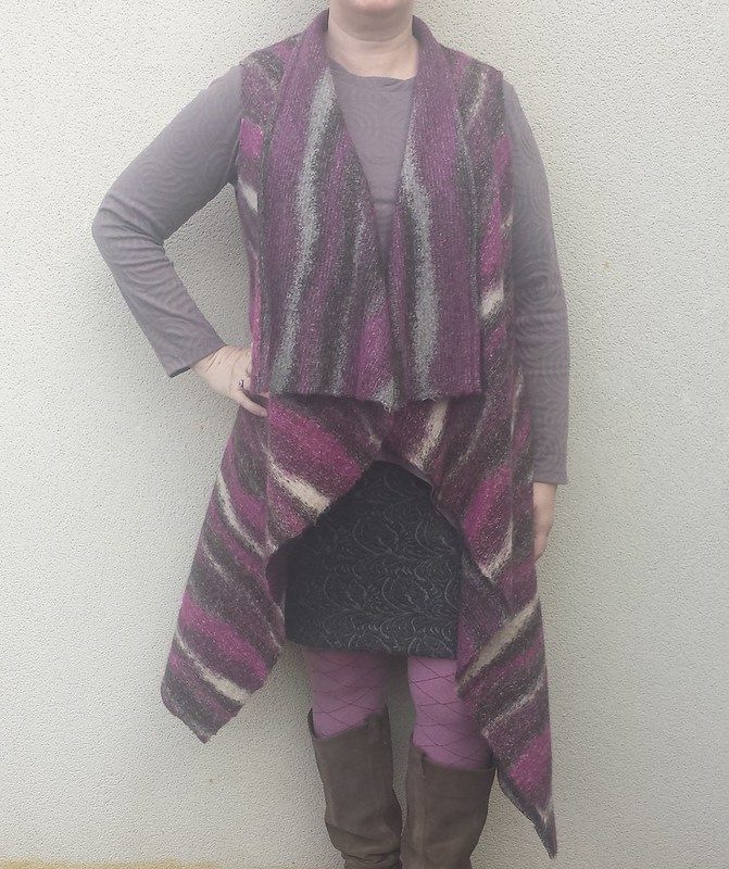 Vest based on Vogue 8559 in wool knit from The Cloth Shop