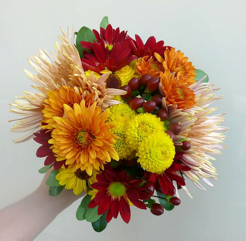 Orange Harvest Bouquet | by enchantedflorist1681