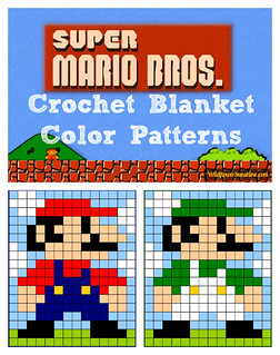 Mario & Luigi Granny Square Crochet Design Collage | by WildflowerSunshine