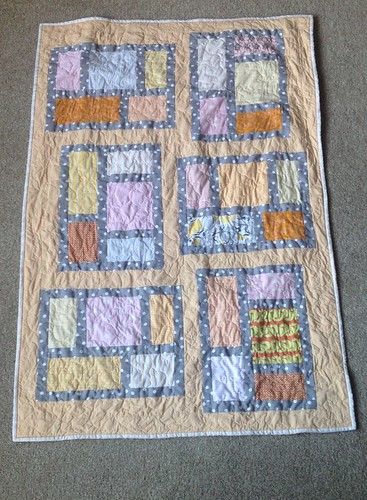 Pastels baby quilt modern kitchen windows | by IckleTomato