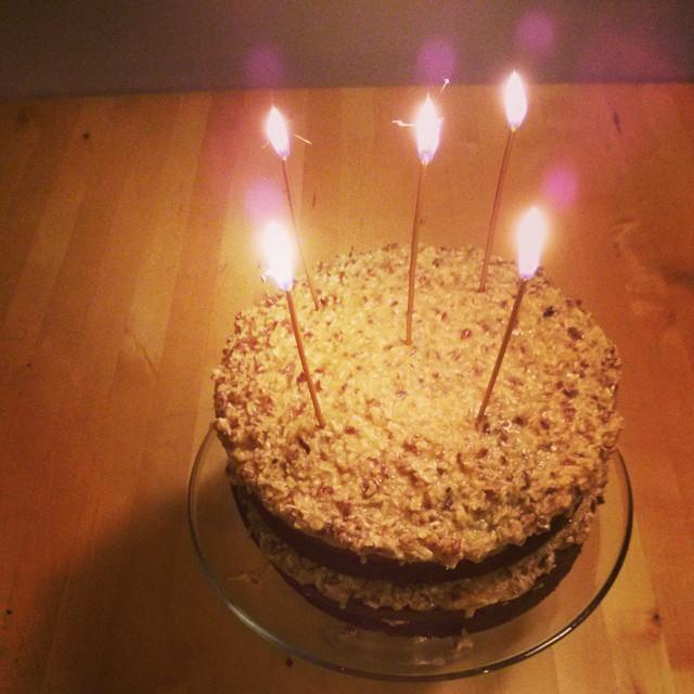 Homemade Organic German Chocolate Birthday Cake w Sparkle Flickr