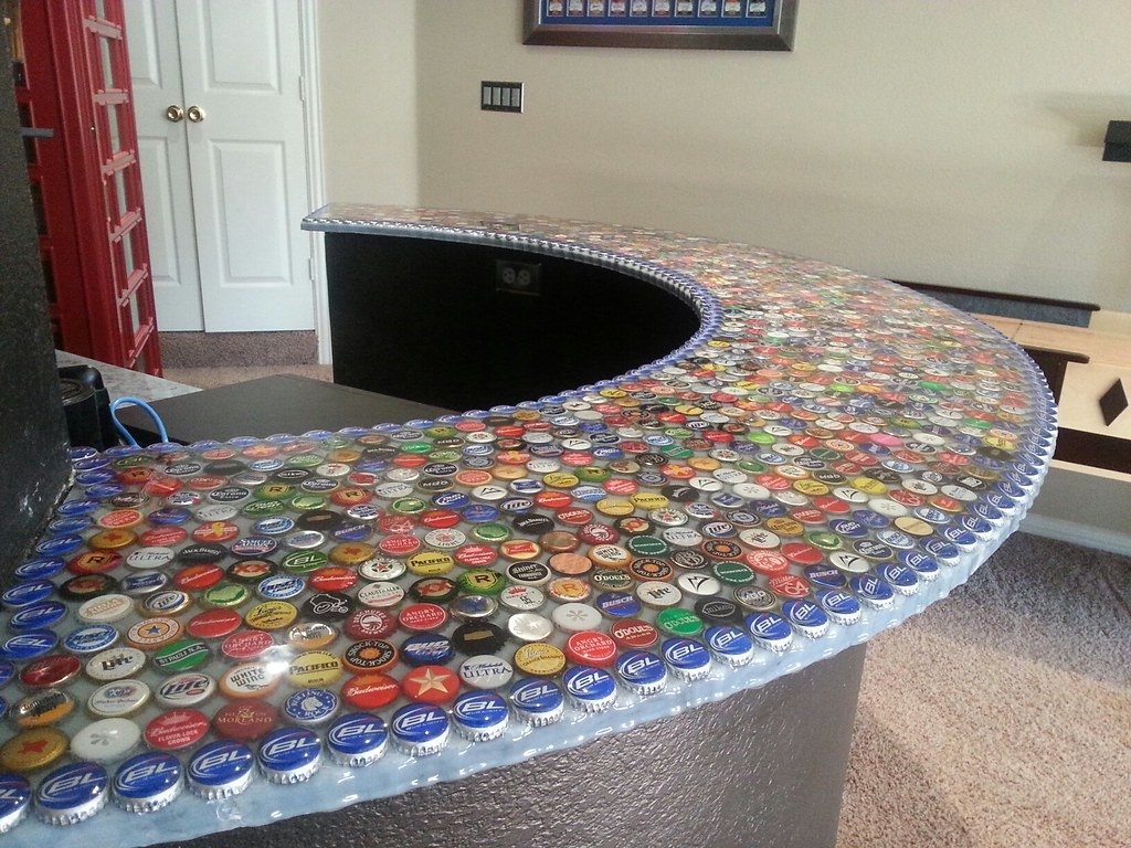 Superbe ... Bottle Cap Bar Top | By BestBartopEpoxy.com