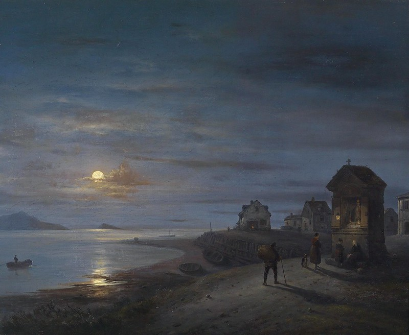 Giuseppe Canella - Küstenlandschaft (1840)